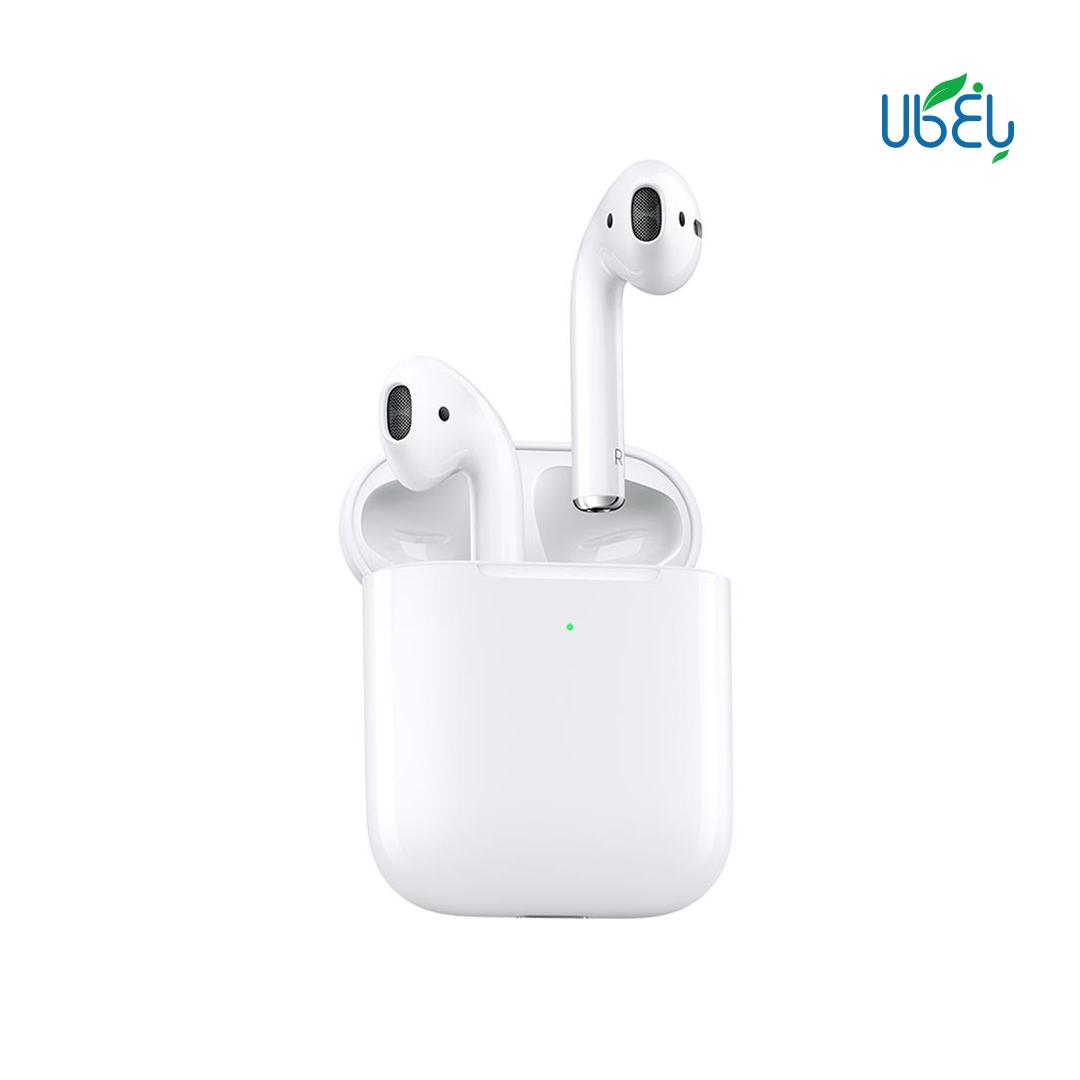هدفون بیسیم اپل مدل ایرپاد سری۱ (AirPods1) به همراه محفظه شارژ