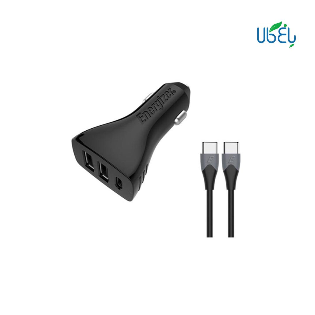 شارژر فندکی انرجایزر مدلDC21PGUCC3 + کابل USB-C