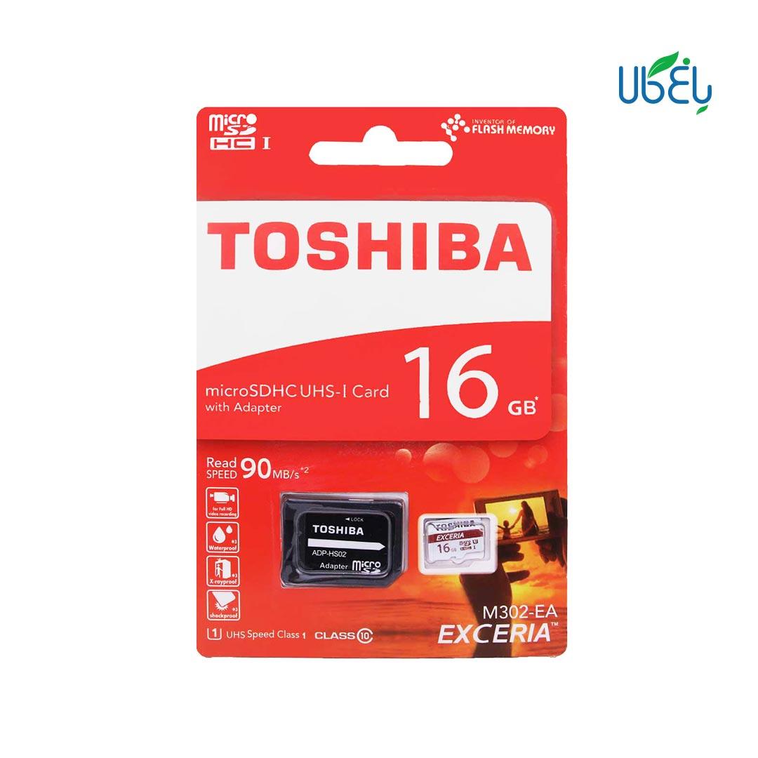 کارت حافظه توشیبا مدل microSDHCهمراه آداپتور،ظرفیت ۱۶ گیگابایت