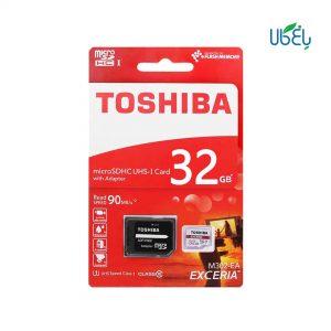 کارت حافظه توشیبا مدلmicroSDHC همراه آداپتور،ظرفیت 32 گیگابایت