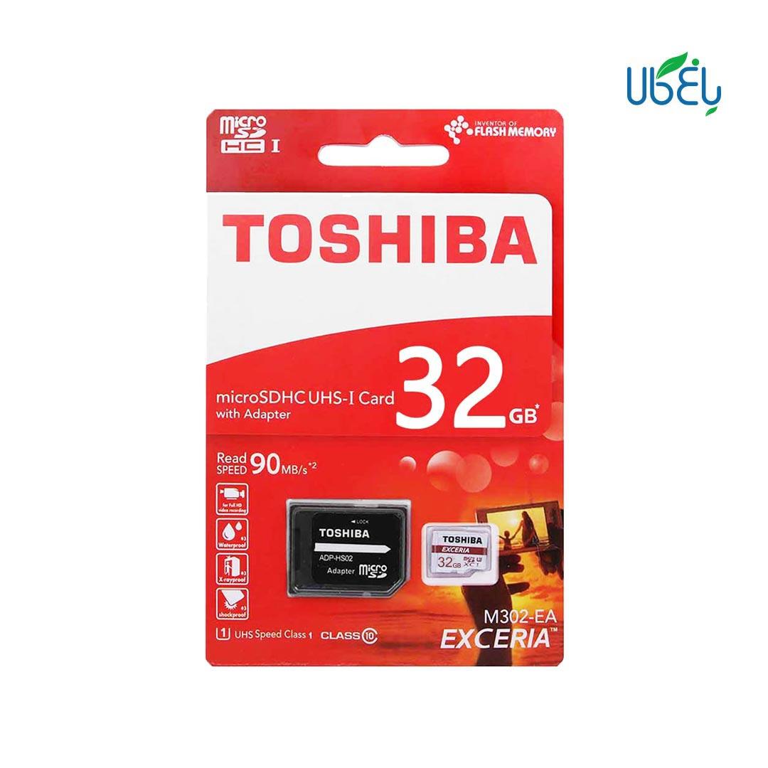 کارت حافظه توشیبا مدلmicroSDHC همراه آداپتور،ظرفیت ۳۲ گیگابایت