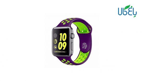 بند سیلیکونی طرح نایک ساعت هوشمند مناسب اپل واچ 38-40 میلیمتری
