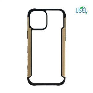 قاب HUANMIN گوشی اپل iPhone 12 ProMax مدل شفاف دور فلزی
