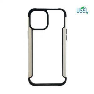 قاب HUANMIN گوشی اپل iPhone 12/12 pro مدل شفاف دور فلزی
