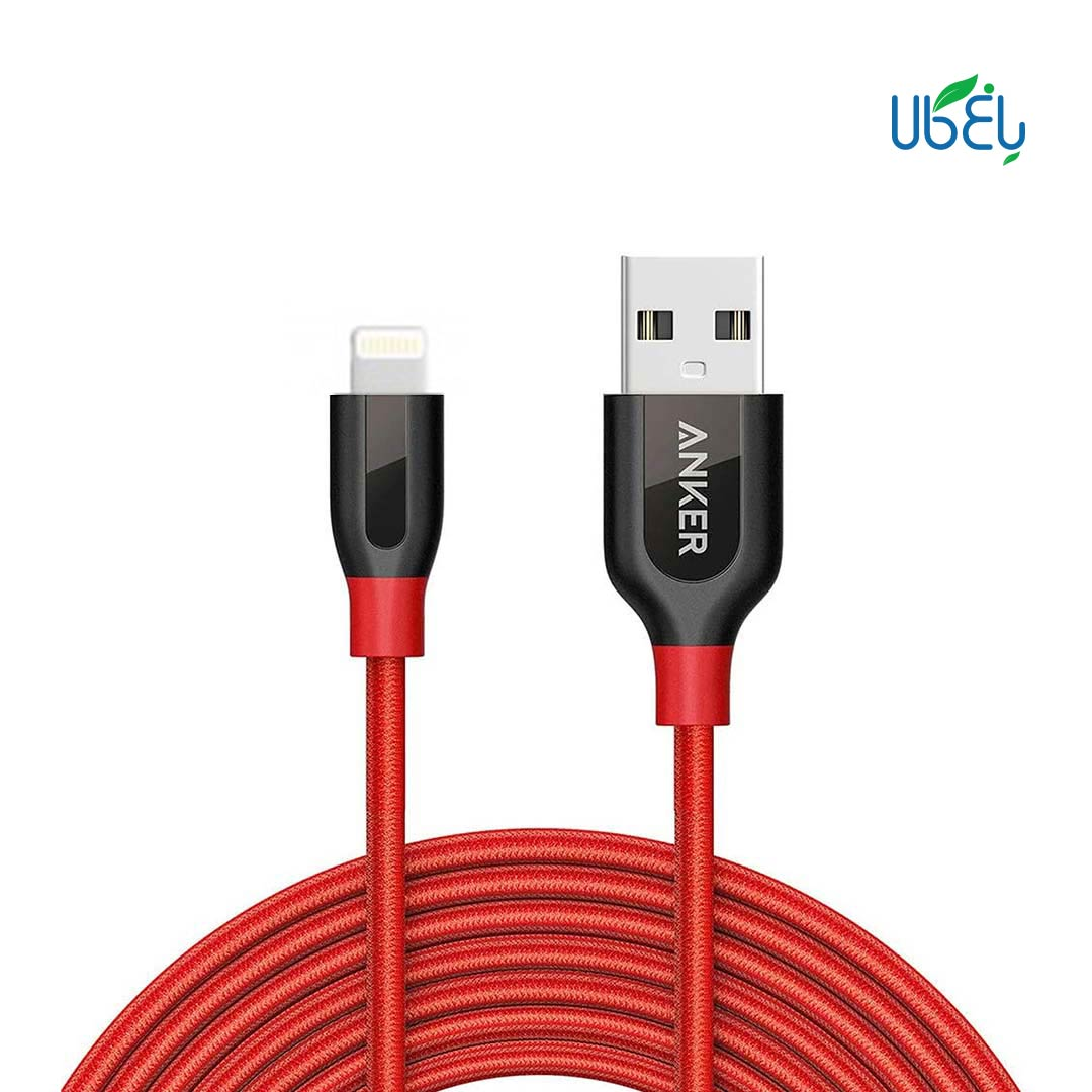 کابل تبدیل USB به لایتنینگ انکر مدل +A8121 PowerLine طول ۹۰cm
