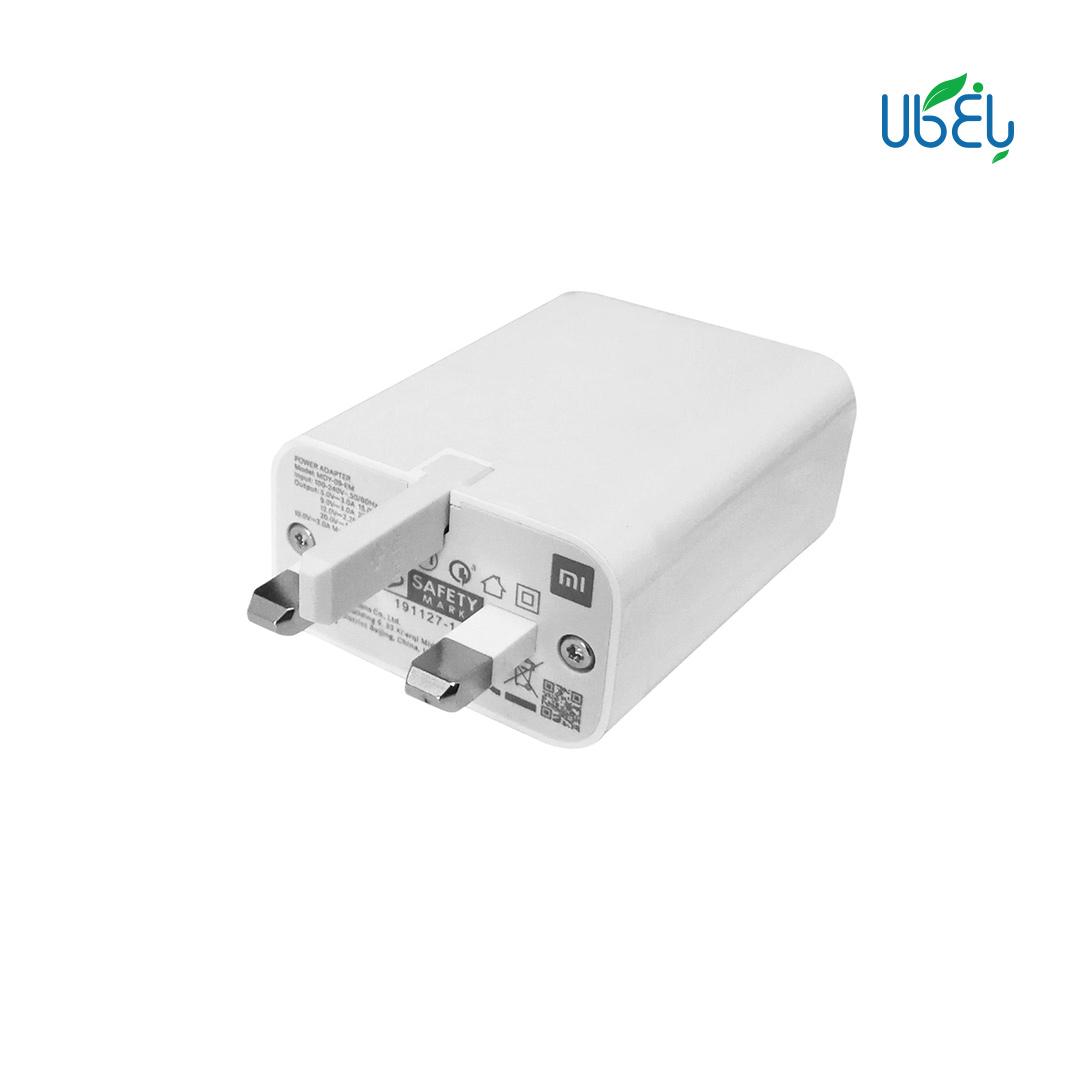 شارژر دیواری اورجینال شیائومی Super Fast مدل MDY-09-EM به همراه کابل تبدیل USB-C