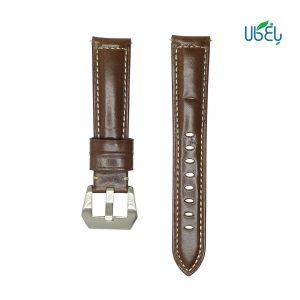 بند چرم طبیعی دور دوخت ساعت هوشمند شیائومی مناسب Haylou LS02/LS05