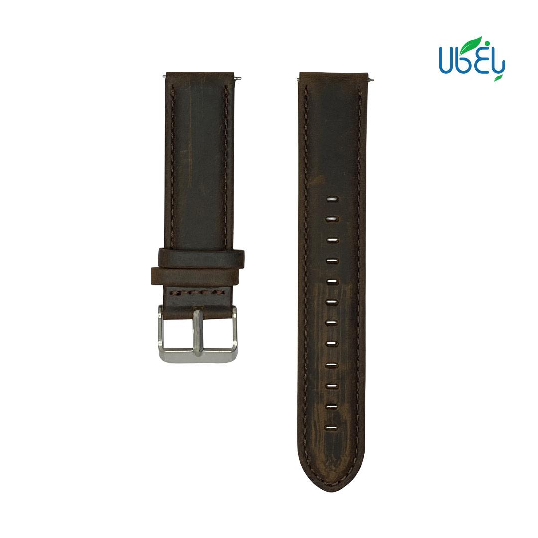 بند چرم طبیعی ساعت هوشمند شیائومی مناسب Amazfit Bip/Bip s/Bip Lite