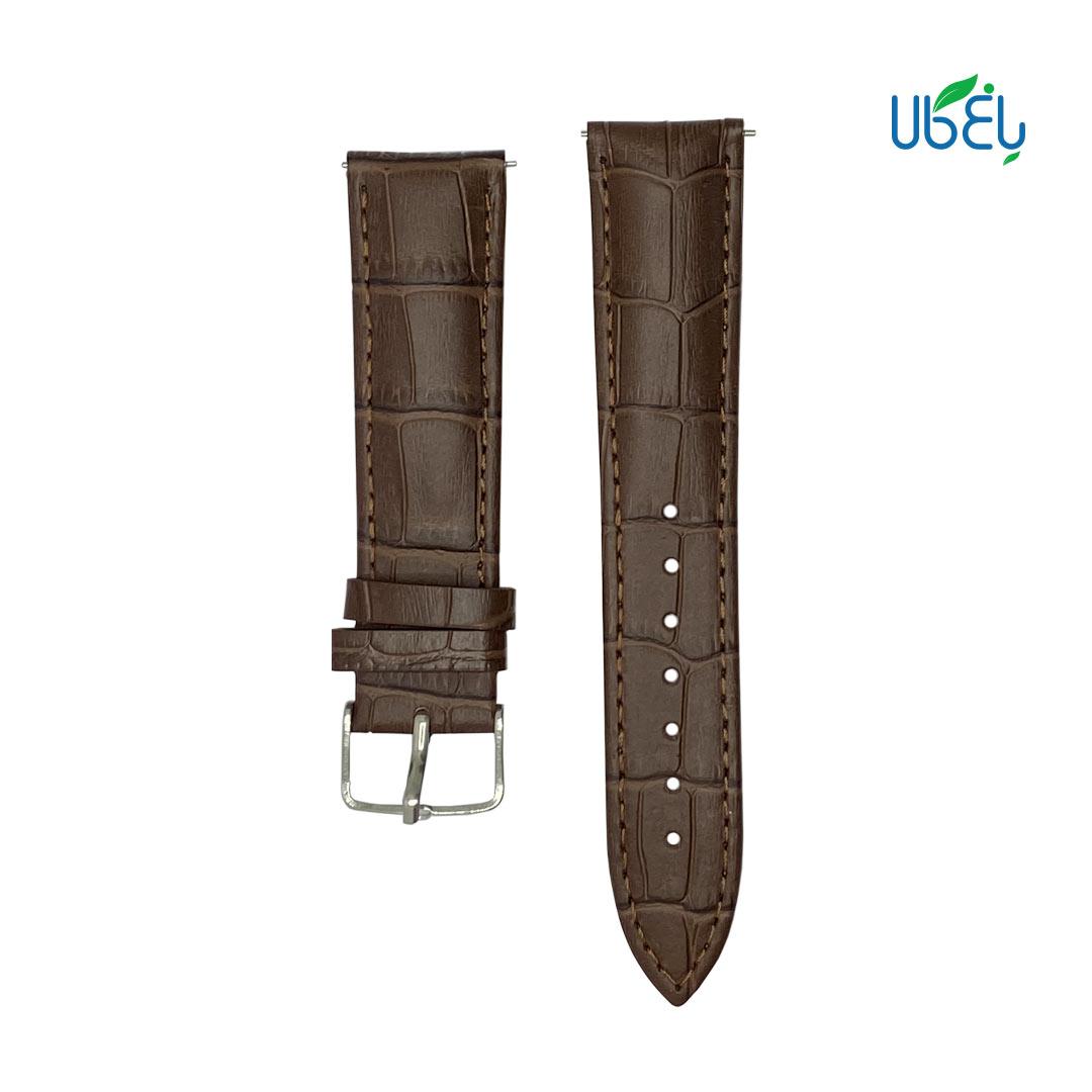 بند چرم طبیعی پوست ماری ساعت هوشمند سامسونگ مناسب Galaxy Watch active/active 2