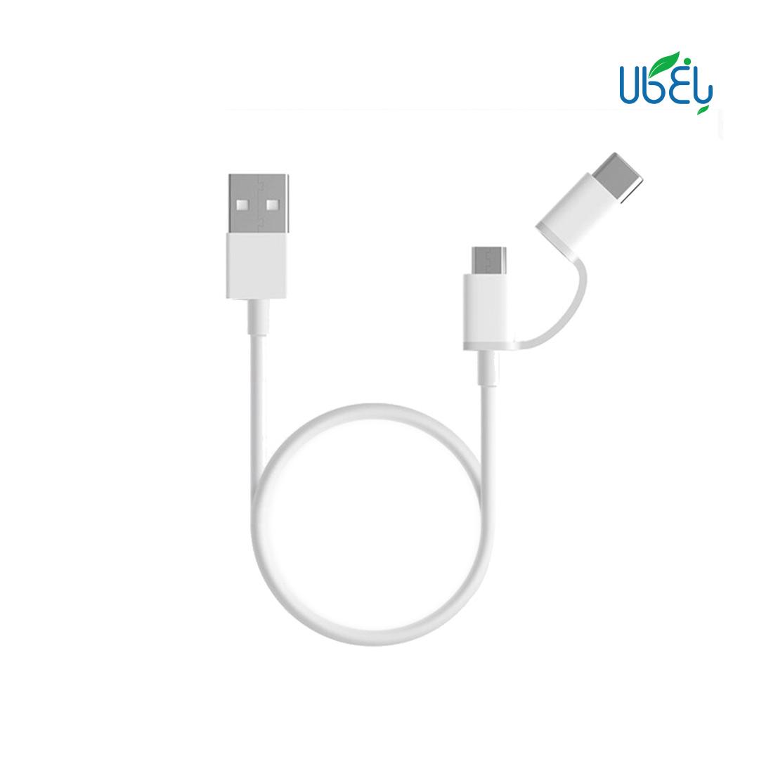 کابل تبدیل شیائومی میکرو USB به Type_C (1متر) Cable 2in1 Type-C / Micro USB 1m SJV4070CN