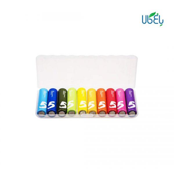 باتری قلمی رنگین کمانی شیائومی بسته ده تایی
